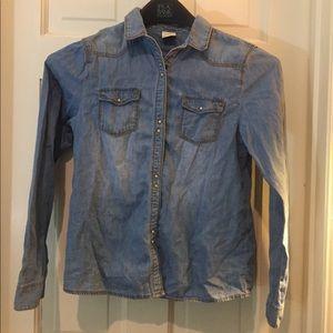 Zara Girls Shirt  Button Down Long Sleeve Blouse